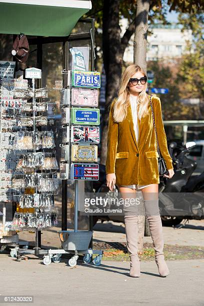 Xenia Van Der Woodsen attends Chanel show on day 8 of Paris Womens Fashion Week Spring/Summer 2017 on October 4 2016 in Paris France