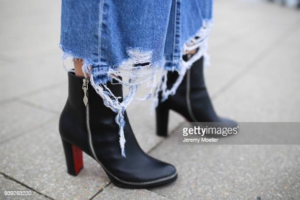 Xenia Van Der Woodsen 'Overdose' wearing Christian Louboutin shoes on March 27 2018 in Hamburg Germany
