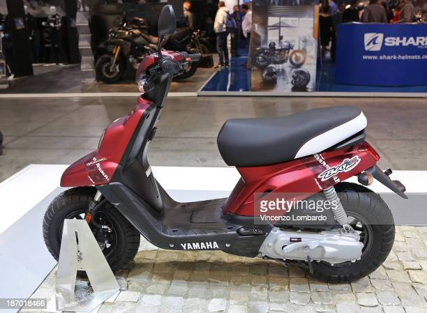 Xenter125 MotoGP is displayed during the 71st International Motorcycle Exhibition EICMA 2013 on November 5 2013 in Milan Italy