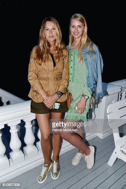 Xenya Green and Kate Green attend Katrina and Don Peebles Host NY Mission Society Summer Cocktails at Private Residence on July 7 2017 in...