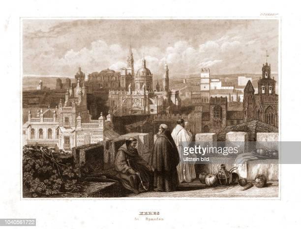 Xeres in Spanien. Aus: Meyer's Merkwürdigkeiten, Hildburgshausen 1835