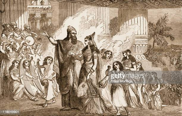Xerxes I the Great c519465 BC Xerxes I the King of Persia is shown at an event with Queen Esther