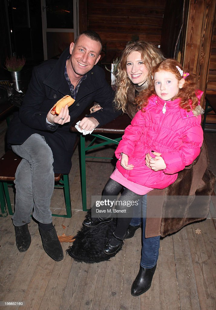 X-Factor contestants Christopher Maloney and Melanie Masson attend the Winter Wonderland - Launch Party in Hyde Park on November 22, 2012 in London. England.