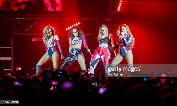 Factor contestants Little Mix perform at the Mitsubishi Electric Halle on May 25 2017 in Düsseldorf Germany The perfomace comes just days after a...