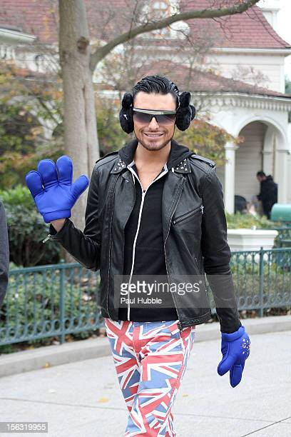 'XFactor' UK contestant Rylan Clark is seen at Disneyland Paris on November 13 2012 in Paris France