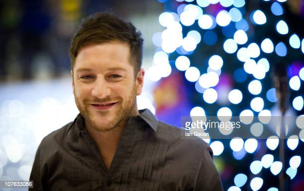 Factor winner Matt Cardle performs at HMV at Whiteleys shopping centre on December 16 2010 in London England