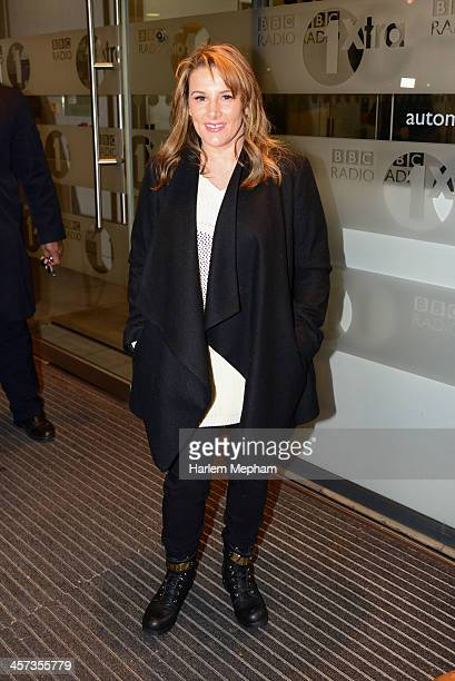 Factor winner Sam Bailey sighted arriving at BBC Radio One on December 17 2013 in London England
