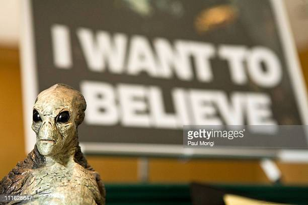 XFiles memorabilia on display at the Twentieth Century Fox donation ceremony of a collection of objects from the XFiles to National Museum of...