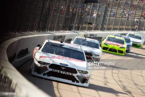 Xfinity Series driver Cole Custer during the NASCAR Xfinity Series US Cellular 250 on July 27 at Iowa Speedway in Newton, Iowa.