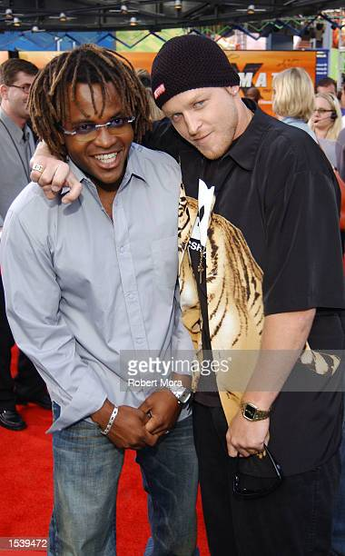 Games commentators Selma Masekela and Jason Ellis attend ESPN's Ultimate X movie premiere May 6, 2002 in Universal City, CA.