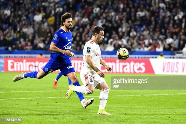 Xherdan SHAQIRI during the Ligue 1 Uber Eats match between Lyon and Troyes at Groupama Stadium on September 22, 2021 in Lyon, France.