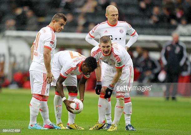 Xherdan Shaqiri FC Bayern München David ALABA FC Bayern München Bastian SCHWEINSTEIGER FC Bayern München und Arjen ROBBEN FC Bayern München beim...
