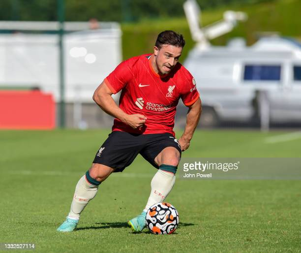 Xherdan Shaqiri of Liverpool during the Pre Season match between Liverpool and Bologna on August 05, 2021 in Evian-les-Bains, France.