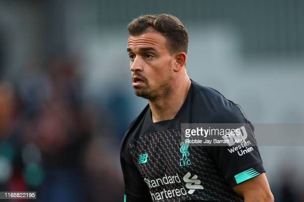 Xherdan Shaqiri of Liverpool during the Premier League match between Burnley FC and Liverpool FC at Turf Moor on August 31 2019 in Burnley United...