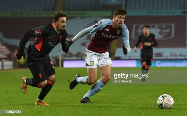 Xherdan Shaqiri of Liverpool in action during the FA Cup Third Round match between Aston Villa and Liverpool on January 08, 2021 in Birmingham,...