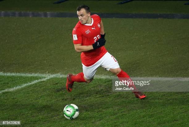 Xherdan Shaqiri of Switzerland during the FIFA 2018 World Cup Qualifier PlayOff Second Leg between Switzerland and Northern Ireland at St JakobPark...