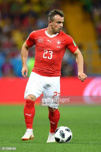 Xherdan Shaqiri of Switzerland in actionm during the 2018 FIFA World Cup Russia group E match between Brazil and Switzerland at Rostov Arena on June...