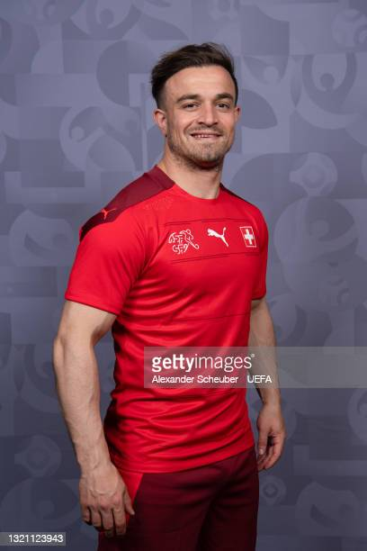 Xherdan Shaqiri of Switzerland poses during the official UEFA Euro 2020 media access day on May 29, 2021 in Bad Ragaz, Switzerland.