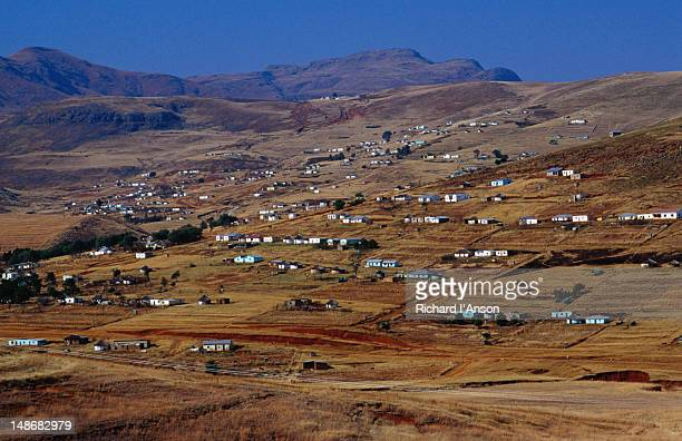 xhosa village in the transkei region - xhosa culture stock photos and pictures