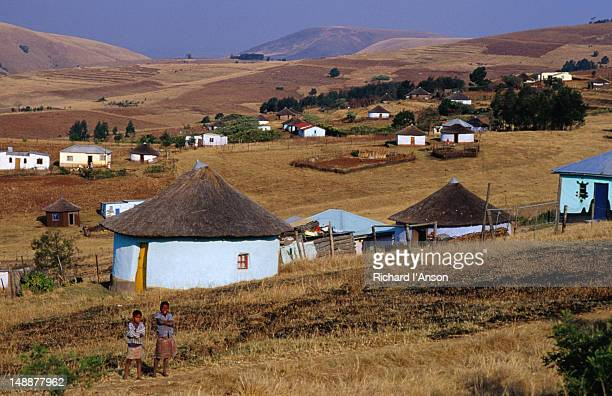 xhosa village in the transkei region - eastern cape stock pictures, royalty-free photos & images
