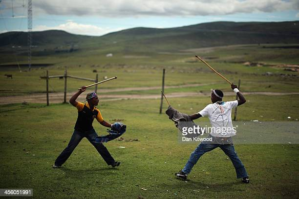 Xhosa youths take part in a manhood ceremony in Qunu ahead of the funeral of Nelson Mandela on December 13 2013 in Qunu South Africa Mr Mandela...