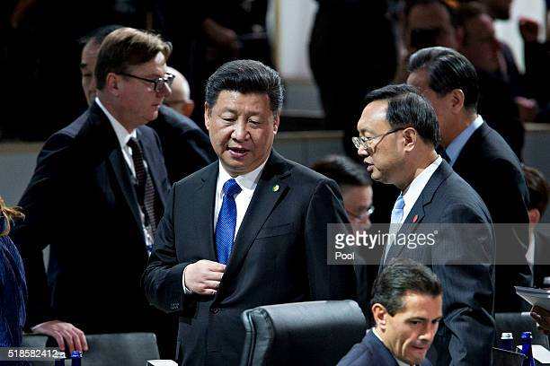Xi Jinping China's president arrives to a closing session at the Nuclear Security Summit April 1 2016 in Washington DC After a spate of terrorist...