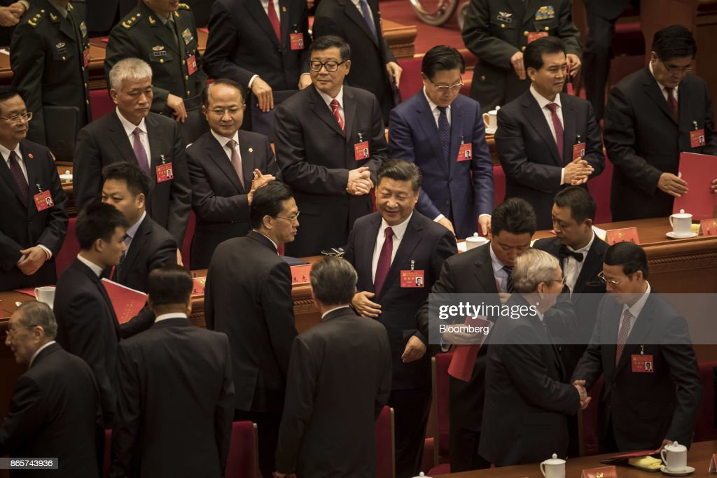 Closing Session of Chinas 19th Communist Party Congress : ニュース写真