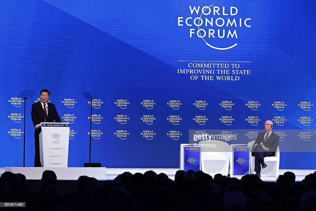 China's President Xi Jinping Delivers Opening Speech At The World Economic Forum  2017