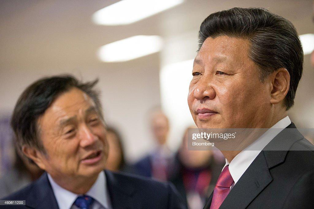 Image result for Xi Jinping, Ren Zhengfei, photos