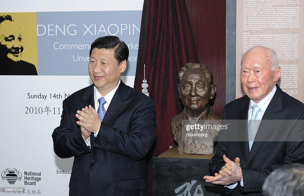 Chinese Vice President Xi Jinping Visits Singapore : News Photo