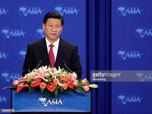 Xi Jinping China's vice president speaks at the Boao Forum for Asia in Boao Hainan province China on Saturday April 10 2010 The Boao Forum takes...