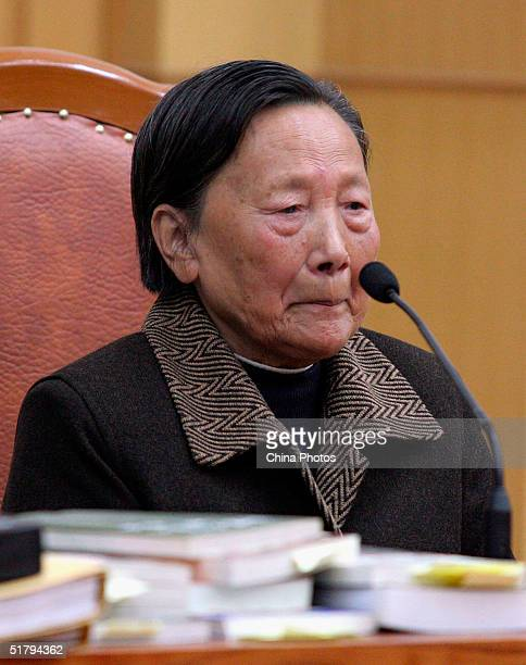 Xia Shuqin is over come by emotion as she appears in a Chinese court on November 25, 2004 in Nanjing, China. Xia Shuqin was enraged that the Japanese...