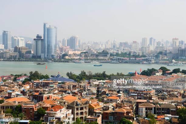 Xiamen City with Gulang Island in foreground Fujian province China