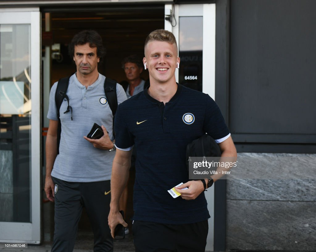 Xian Emmers of FC Internazionale departs from Malpensa Airport on August 10, 2018 in Milan, Italy.
