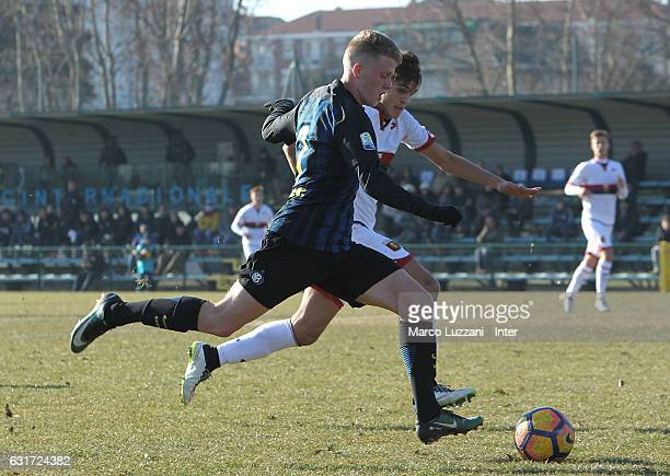 Xian Ghislaine Emmers of FC Internazionale Milano in action during the Primavera Tim juvenile match between FC Internazionale and Genoa CFC at Stadio...