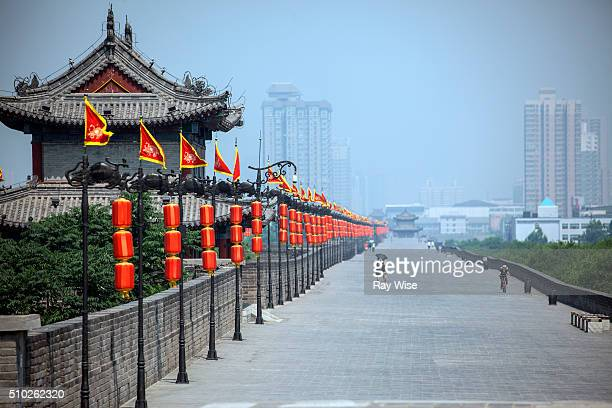 xian - fortified wall stock pictures, royalty-free photos & images