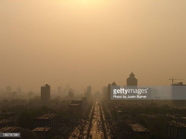 Xi'an smoggy sunset