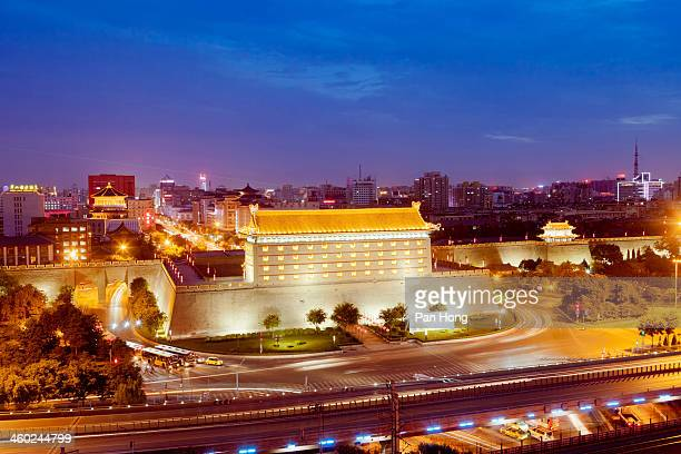 Xi'an  traffic by night