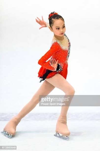 Xiangyun Gu of China competes during the Asian Junior Figure Skating Challenge Hong Kong 2016 at Kowloon Tong's Festival Walk Glacier on 03 October...