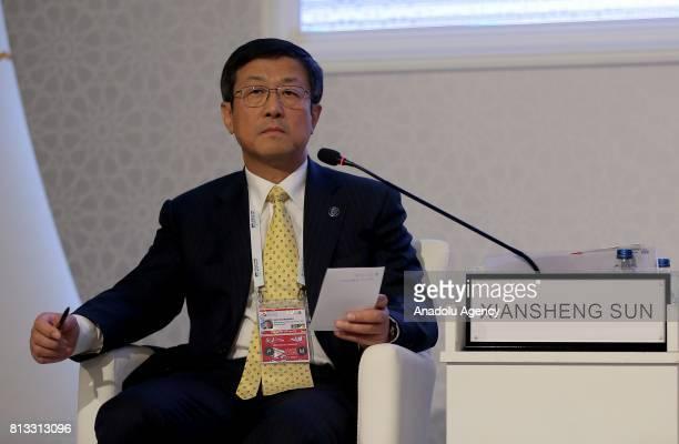 Xiansheng Sun Secretary General of International Energy Forum speaks during the 22nd World Petroleum Congress at Lutfi Kirdar International...