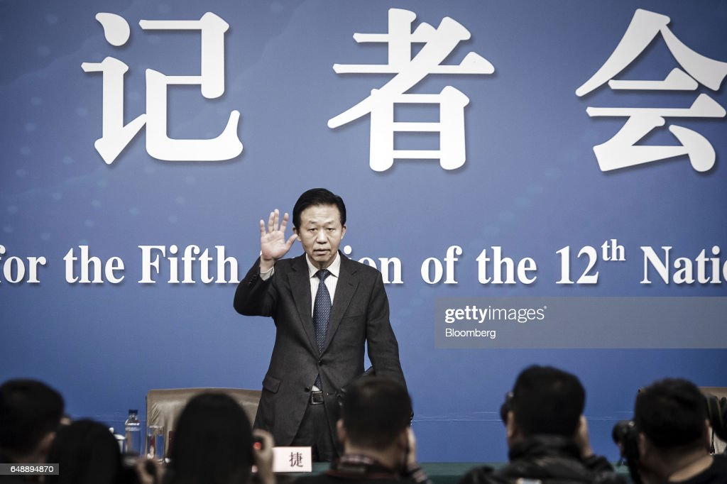 China's Finance Minister Xiao Jie Speaks At News Conference