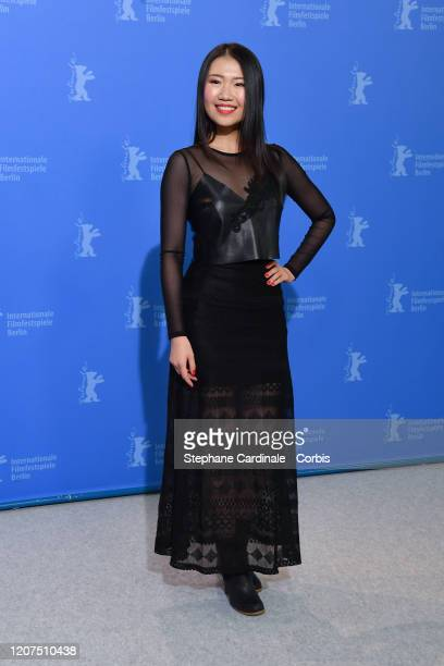 """Xiao Sun poses at the """"My Salinger Year"""" photo call during the 70th Berlinale International Film Festival Berlin at Grand Hyatt Hotel on February 20,..."""