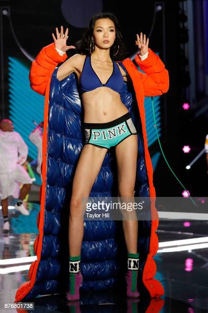 Xiao Wen walks the runway during the 2017 Victoria's Secret Fashion Show at MercedesBenz Arena on November 20 2017 in Shanghai China