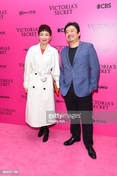 Xiao Xue and Xing Wen Ning attend 2017 Victoria's Secret Fashion Show In Shanghai Pink Carpet Arrivals at MercedesBenz Arena on November 20 2017 in...