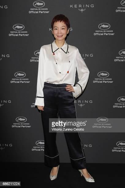 Xiao Xue attends Kering Talks Women In Motion At The 70th Cannes Film Festival at Hotel Majestic on May 21, 2017 in Cannes, France.