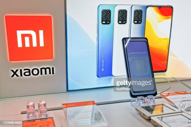 Xiaomi logo is pictured at a store in Krakow, Poland on December 5th, 2020.