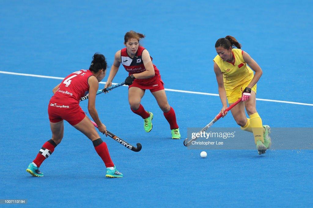 South Korea v China - FIH Womens Hockey World Cup : Nieuwsfoto's