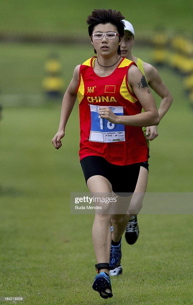 Xiaonan Zhang of China competes in the Women's Pentathlon during the Modern Pentathlon World Cup Series 2013 at Complexo Deodoro on March 20, 2013 in Rio de Janeiro, Brazil.