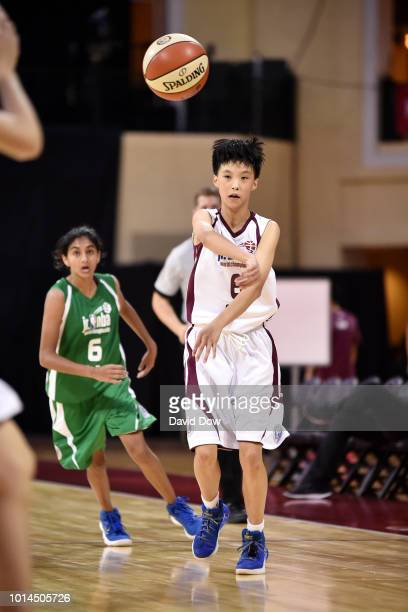 Xiaoyi Zhou of China Girls passes the ball against India Girls on August 10 2018 at the ESPN Wide World of Sports Complex in Orlando Florida NOTE TO...