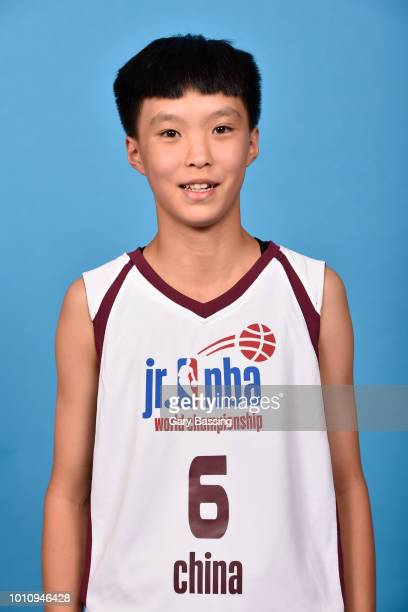 Xiaoyi Zhou of China Girls poses for a head shot during the Jr NBA World Championships Media Circuit in Orlando Florida at Disney's Coronado Springs...